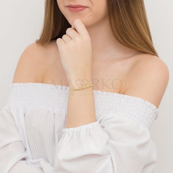 charms złota bransoletka z zawieszkami